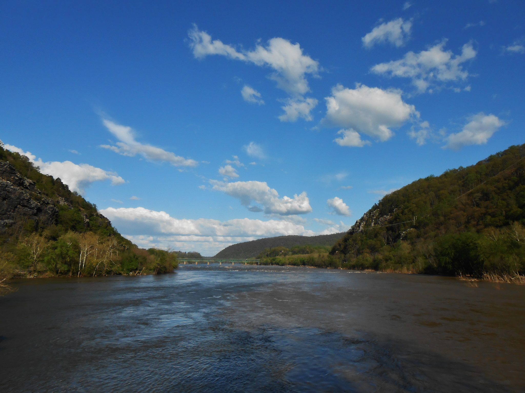 Confluence of the Shenadoah and Potomac Rivers at Harpers Ferry